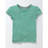 Short Sleeve Pointelle T-shirt Green Girls Boden, Green