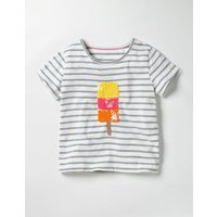 Colour Change Sequin T-Shirt Grey Girls Boden, Grey