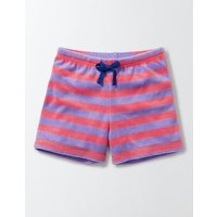 Adventure Towelling Shorts Light Purple/Neon Grapefruit Girls Boden, Pink