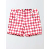 Bright Adventure Shorts Coral Crush/Mid Pink Check Girls Boden, Pink