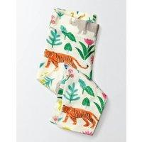Printed Cropped Leggings Multi Tropical Garden Girls Boden, Multi