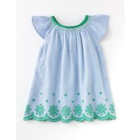 Floaty Woven Top Bright Bluebell Stripe Girls Boden, Blue