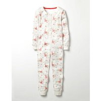 Cosy Sleep All-in-one Ivory Girls Boden, Ivory