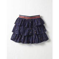 Printed Ruffle Skirt Navy Girls Boden, Navy