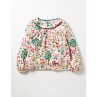 Pretty Printed Top Pink Girls Boden, Pink