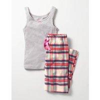 Vest Pyjama Set Ivory Girls Boden, Ivory