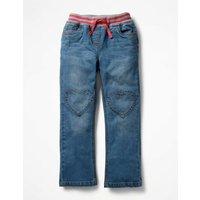 Heart Patch Jeans Denim Girls Boden, Denim