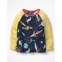 Space Hotchpotch T-shirt Navy Girls Boden, Navy