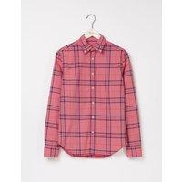 Slim Fit Garment Dye Shirt Gazpacho Check Men Boden, Pink
