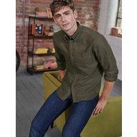 Slim Fit Oxford Shirt Green Men Boden, Green