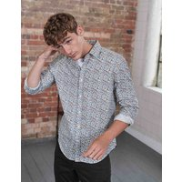 Printed Twill Shirt Multi Ditsy Floral Men Boden, Multi