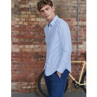 Slim Fit Poplin Shirt Blue Men Boden, Blue