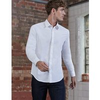 Slim Fit Poplin Shirt White Men Boden, White