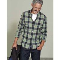 Slim Fit Garment Dye Shirt Pale Green Check Men Boden, Green