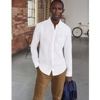 Slim Fit Classic Oxford Shirt White Men Boden, White