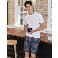 Brushed Cotton Lounge Shorts Blue Men Boden, Blue