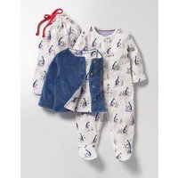 Mr Mallard Sleepsuit & Jacket Multi Baby Boden, Multi