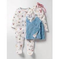 Pretty Sleepsuit & Jacket Set Multi Baby Boden, Multi