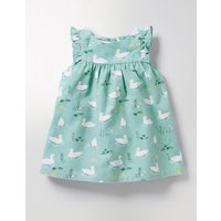 Ruffle Cord Pinafore Blue Baby Boden, Blue