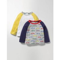 Twin Pack T-shirts Multi Baby Boden, Multi