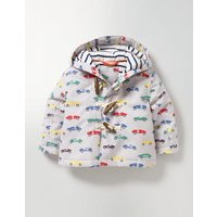 Cars Printed Duffle Coat Multi Vintage Cars Baby Boden, Multi