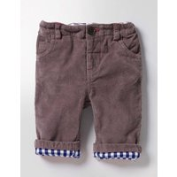 Cosy Lined Cord Trousers Brown Baby Boden, Brown