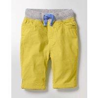 Rib Waist Trousers Yellow Baby Boden, Yellow