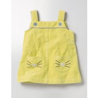 Fun Cord Pinafore Yellow Baby Boden, Yellow