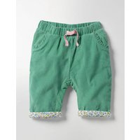 Cord Pull-on Trousers Green Baby Boden, Green