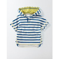 Stripy Towelling Throw-on Blue Baby Boden, Blue