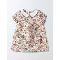 Pretty Tea Dress Peach Sorbet Mini Flower Bed Baby Boden, Pink