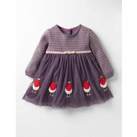 Pretty Tulle Appliqu Dress Purple Baby Boden, Purple