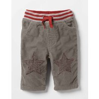Star Patch Trousers Grey Baby Boden, Grey