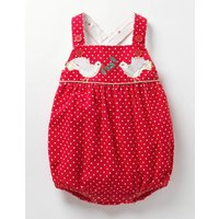 Classic Cord Playsuit Red Baby Boden, Red