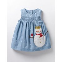 Fairytale Appliqu Dress Blue Baby Boden, Blue