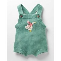 Festive Knitted Playsuit Green Baby Boden, Green