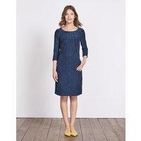 Hannah Jersey Dress Denim Women Boden, Denim