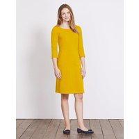 Hannah Jersey Dress Saffron Women Boden, Yellow