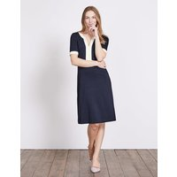 Constance Ponte Dress Navy/Ivory Women Boden, Navy