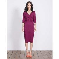 Connie Ponte Dress Purple Women Boden, Purple
