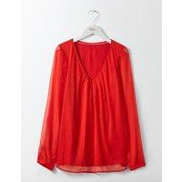 Aubrey Jersey Top Red Women Boden, Red