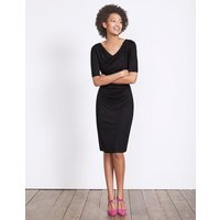 Boden Rita Ruched Jersey Dress Black Women Boden, Black