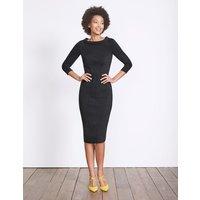 Marisa Ottoman Dress Black Women Boden, Black