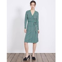 Wrap Jersey Dress Eden Small Ribbon Women Boden, Green