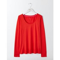 Supersoft Scoop Neck Top Red Women Boden, Red