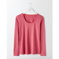 Supersoft Scoop Neck Top Rose Blossom Women Boden, Pink