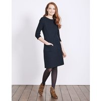 Marisole Jacquard Dress Navy Women Boden, Navy