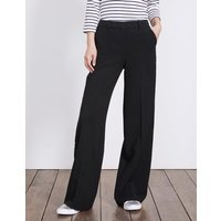 Charlbury Wide Leg Trousers Black Women Boden, Black