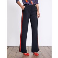 Charlbury Wide Leg Trousers Navy Women Boden, Navy