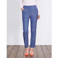 British Tweed 7/8 Trousers Blue Women Boden, Blue